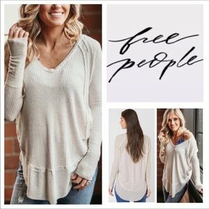 Free People Oatmeal Catalina Thermal Tunic.  NWT.